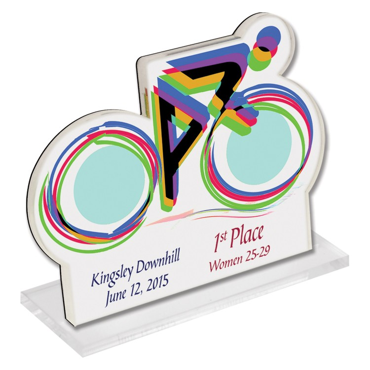 Custom Acrylic Desk Plaque W/ Base (Up to 6 Square Inch)