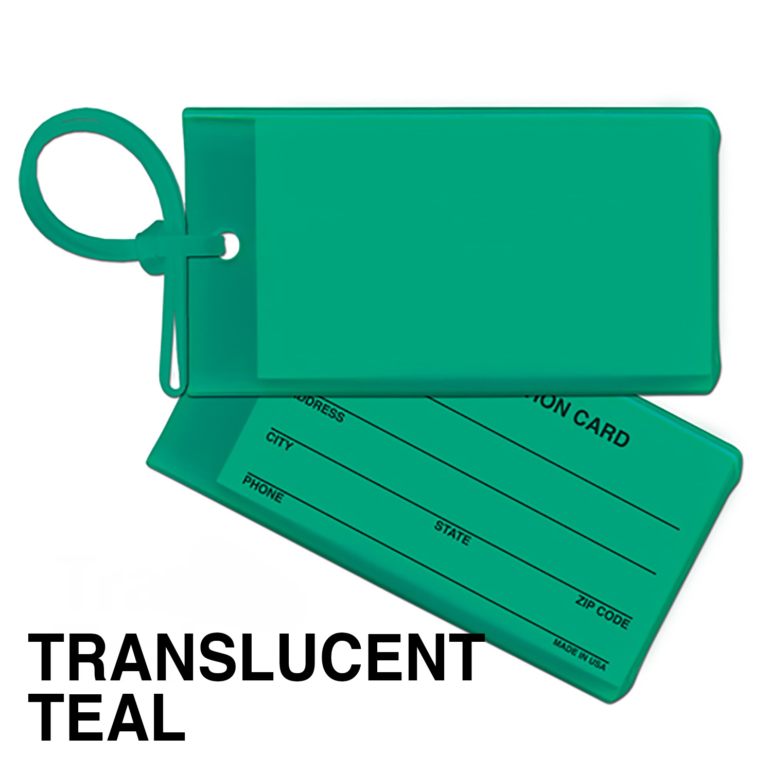 Bag & Luggage Tag - Business Card Insert - Spot Color
