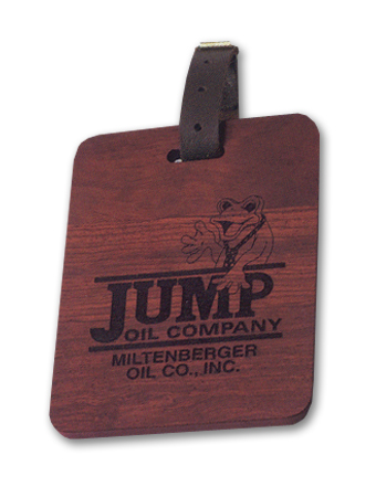 Solid Wood Golf Bag Tag in a Poly Bag