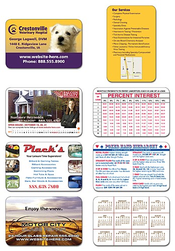 Custom Size / Shape - UV-Coated (1S) Plastic Card (8 Up) - 10 pt.