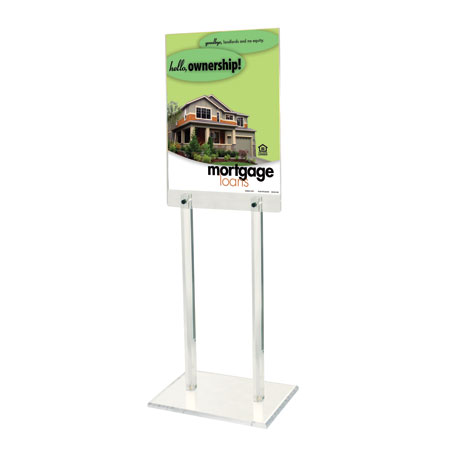 67h Clear Acrylic Floor Frame , for 22 x 28 poster