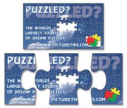 Magnet - 3-Piece Puzzle Shape (3.5x2) - 25 Mil.