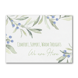 Comfort, Support, Warm Thoughts Greeting Card