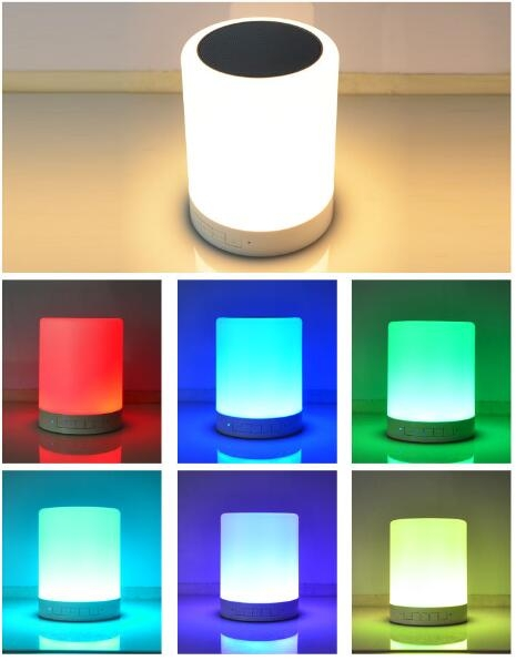 Touch 7 Colorful Bluetooth Speaker Light