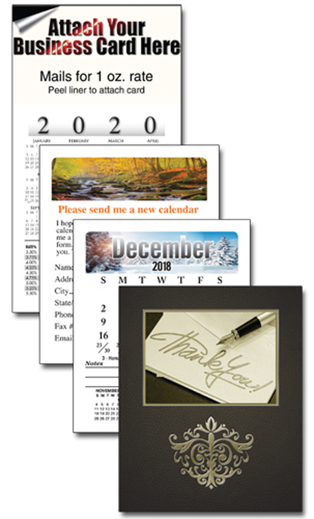 13 Month Multi-Purpose Business Card Calendar with Cover