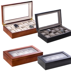 10 Watch Wooden Box with Glass Top