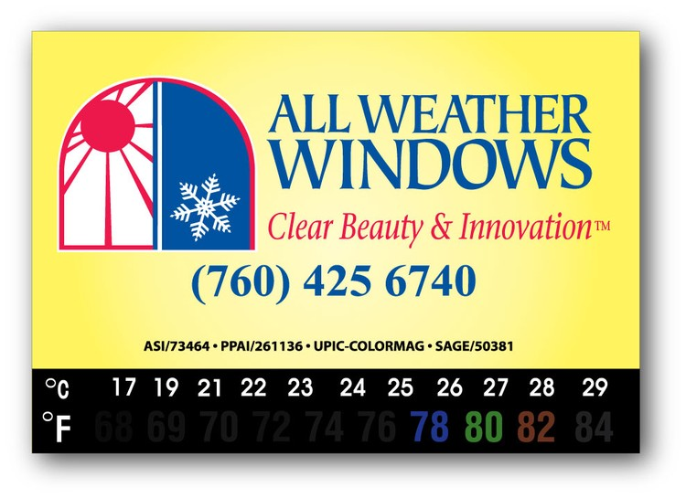 Business Card Magnet with Thermometer