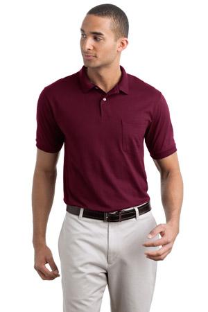 Hanes ® - Stedman ®  Jersey Knit Sport Shirt with Pocket.