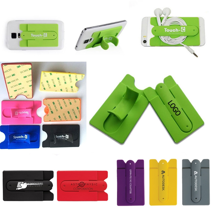 sneakers for cheap f1561 63a24 Silicone Mobile Phone Wallet/Stand Card Holder