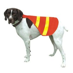Pet safety vest with reflective strips