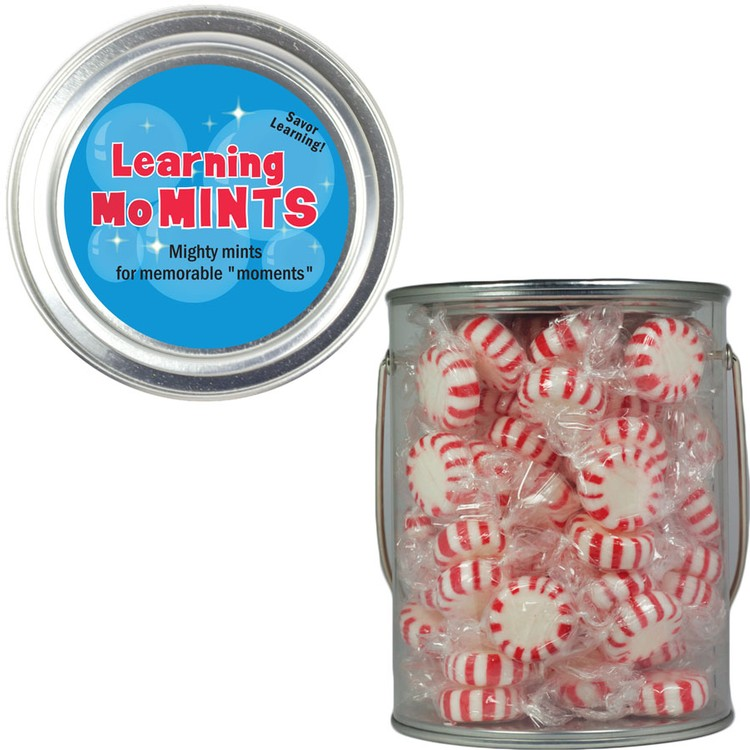 Clear Plastic Paint Can Pail with Starlite Mints