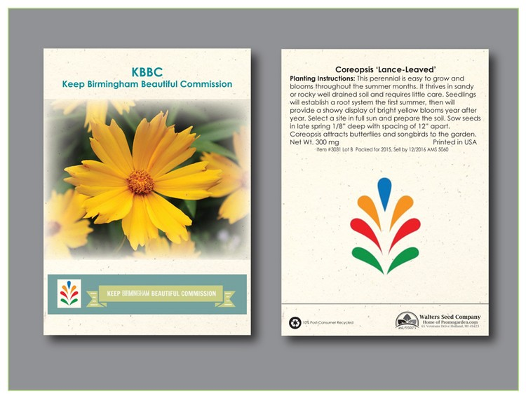Coreopsis 'Lance-Leaved' Seed Packet - Imprinted Seed Packet