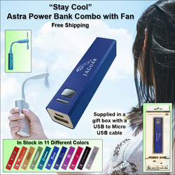 Astra Power Bank 2200 mAh Combo with Fan