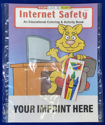 COLORING SET - Internet Safety Coloring Book Fun Pack - Coloring Book Fun Pack
