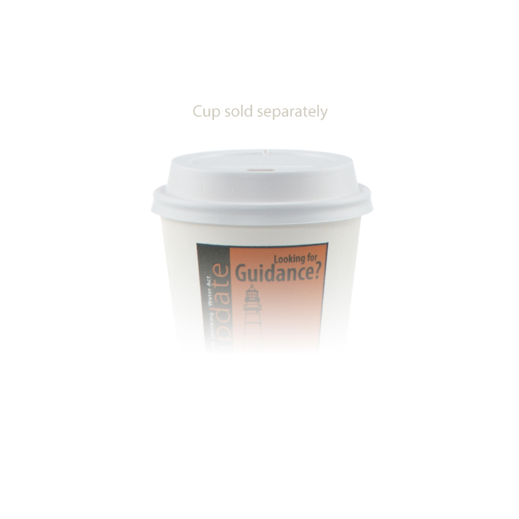8 oz Domed Lid - White