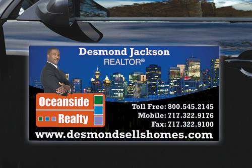 Custom Magnetic Car and Truck Vehicle Magnet Door Signs - 24x12 Inch