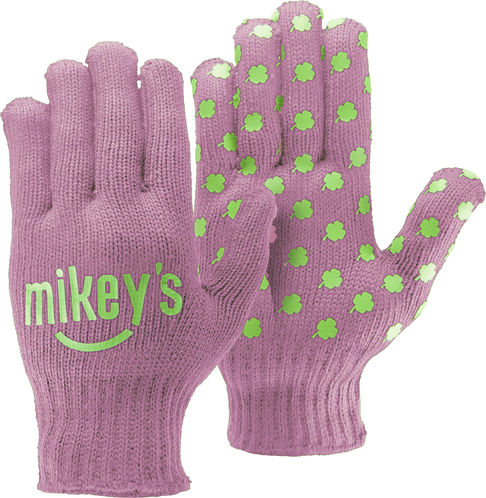 Pink Knit Gloves w/Step & Repeat Imprint