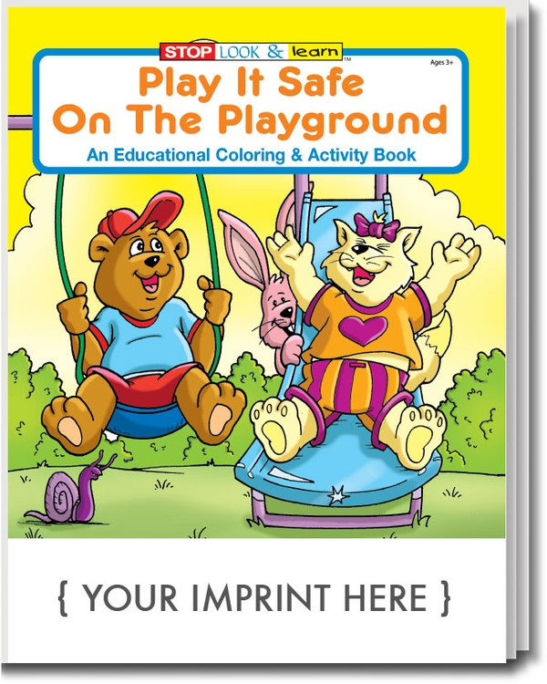 COLORING BOOK - Play It Safe on the Playground Coloring & Activity Book