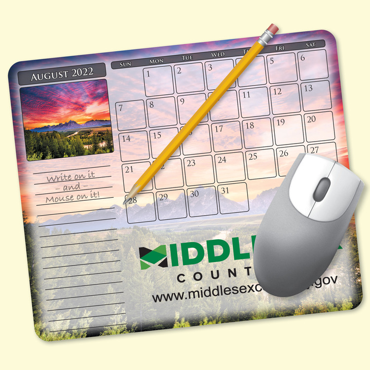 MousePaper® Calendar 12 Month Recycled Note Paper (Landscape) Mouse Pad
