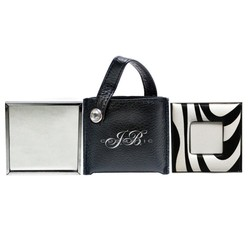 Sylish Zebra Imprint Purse and Mirror