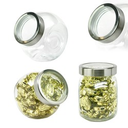 Desktop GLASS Jar Small with See Thru Lid Hard Candy