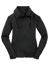 Sport-Tek Ladies Sport-Wick Stretch Full-Zip Jacket.