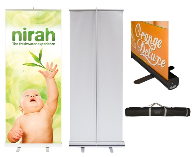Econo Roll Retractable Banner Stand w/ Graphic - 36x80
