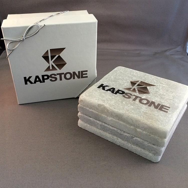 Tumbled Stone Coasters - Boxed Set of 4 Fume