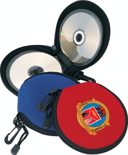 Neoprene 24 CDs holder with full double zippered closure
