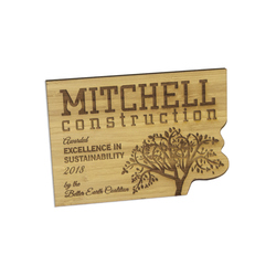 Laser Etched Bamboo Wall Plaques
