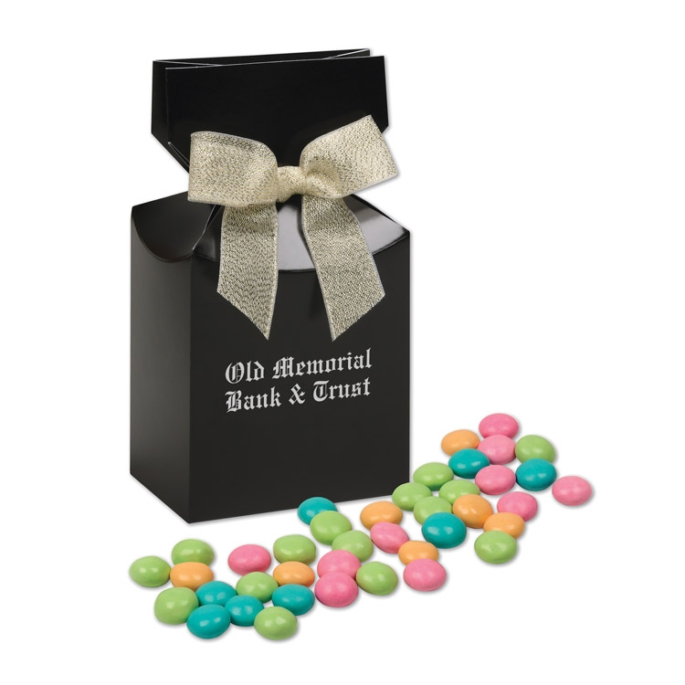 Black gift box with your logo & Chocolate Gourmet Mints