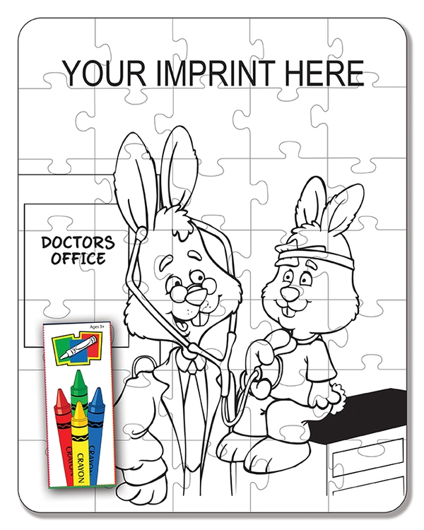 COLORING PUZZLE SET - Medical (35 Piece)