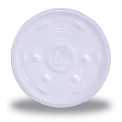 Translucent 10 oz. Straw Slotted Lid