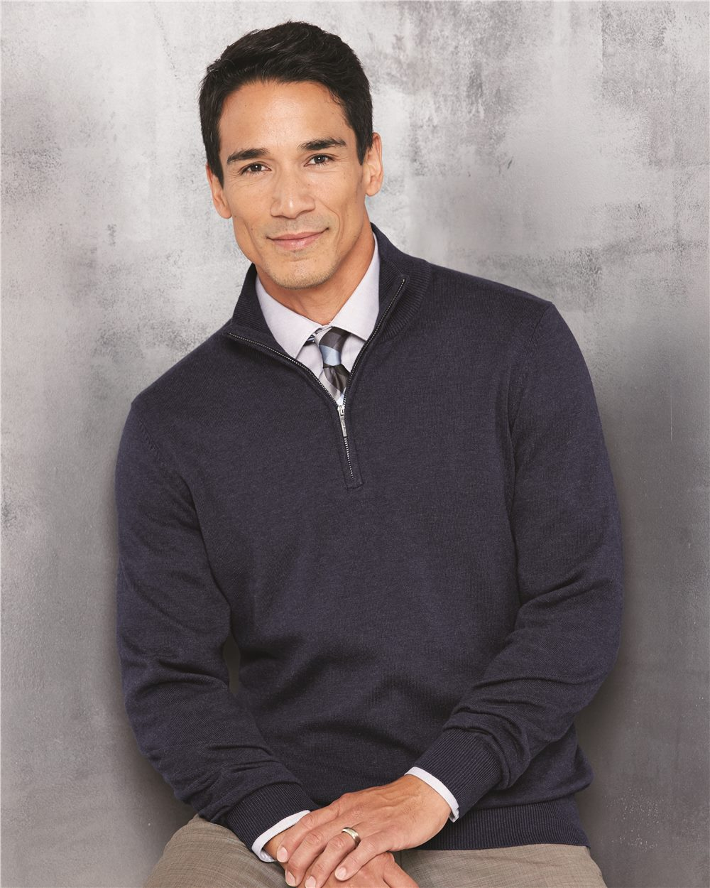 8659bf76f3f46f Quarter-Zip Sweater - 13VS005 | Gateway Promotions Group
