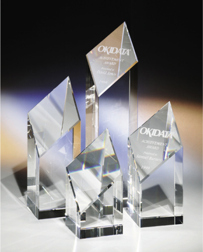 Triumph 10\' Optical Crystal Award