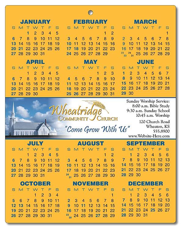 Religious Laminated Calendar Card - 8.5x11