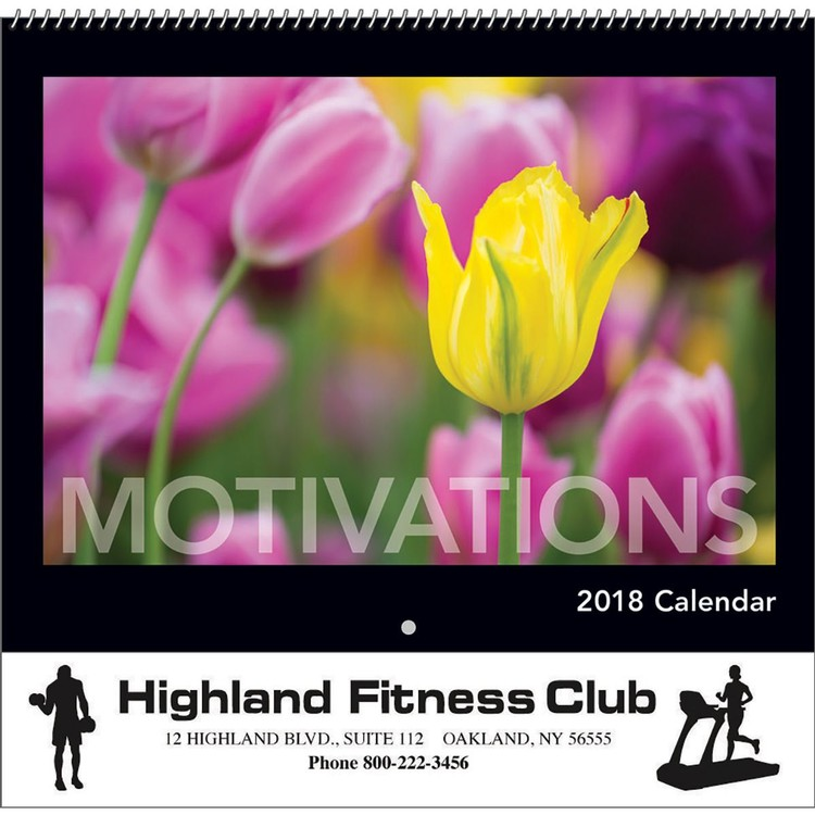 Motivations Wall Calendar - Spiral - Calendars