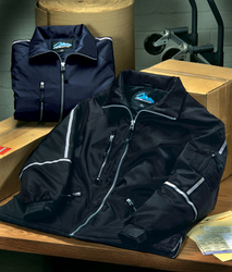 Nylon jacket with reflective tape. - COURIER