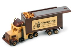 Deluxe Mixed Nuts in Semi Truck