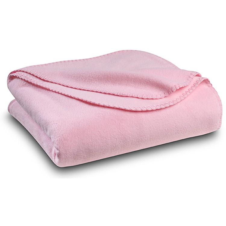 Pink Polar Fleece Throw Blanket