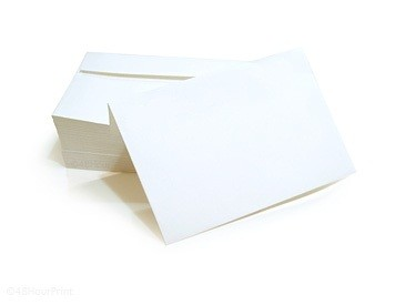 A-9 (3 7/8 X 8 7/8) Envelopes 24#, Bright White L/S 1/0 black