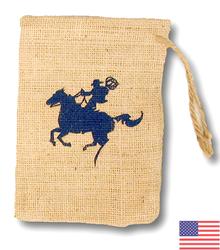Coffee Bean Jute/Burlap Drawstring Bag 6X8