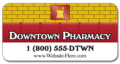 Pharmacy Magnetic Car/Truck/Auto/Vehicle Signs - 24x12 Round Corners