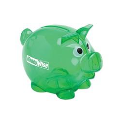Small Piggy Bank - Translucent Green