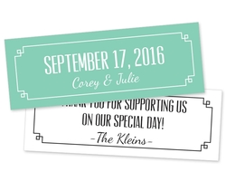 Wedding Favor Card Tag (2.75x1) - Extra-Thick UV-Coated (1S)