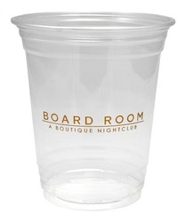 12 oz. Soft Sided Clear Plastic Cup
