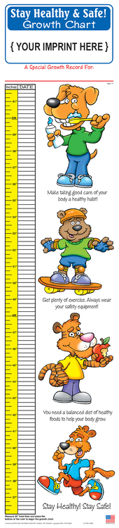 GROWTH CHART - Stay Healthy & Safe Children\'s Growth Chart