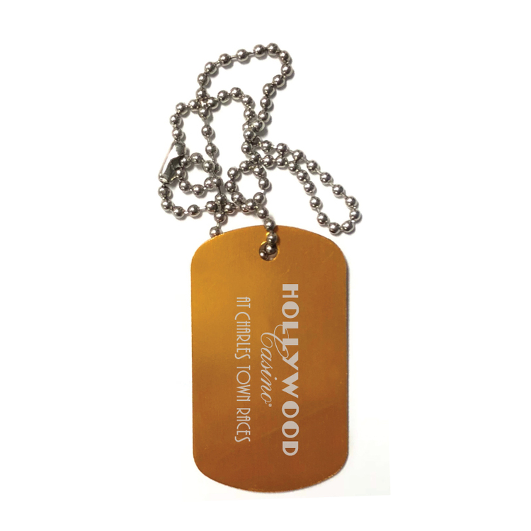 Clearance Item! Aluminum Dog Tag w/6 Beaded Chain