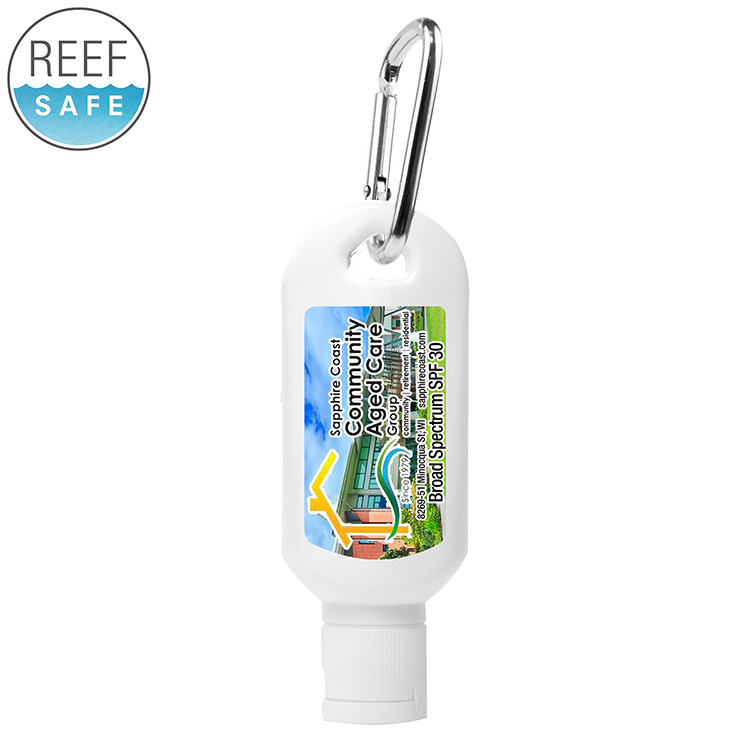 2.0 oz Broad Spectrum SPF 30 Sunscreen Lotion in Carabiner Tottle (Photoimage)