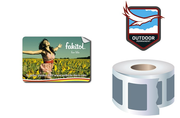 Roll Stickers / Decal - Outdoor Permanent - 3x2 Rectangle Shape